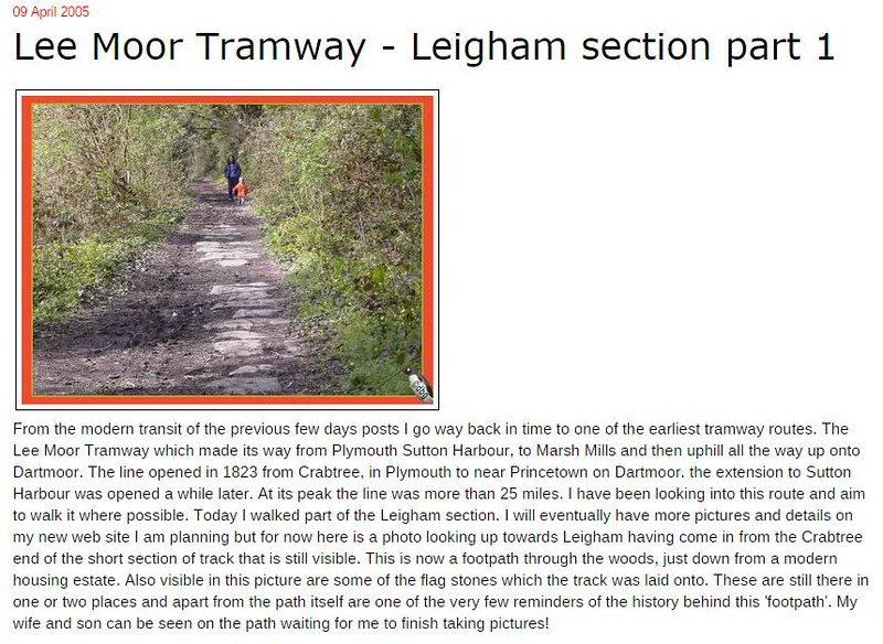 Plymothian Transit- Lee Moor Tramway - Leigham section part 1