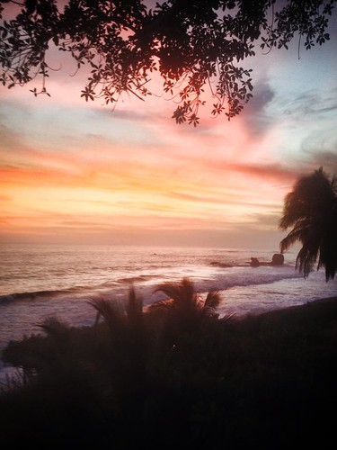 Sunset views from Casa Miramar, El Tunco