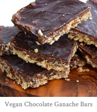 Vegan Chocolate Ganache Bars