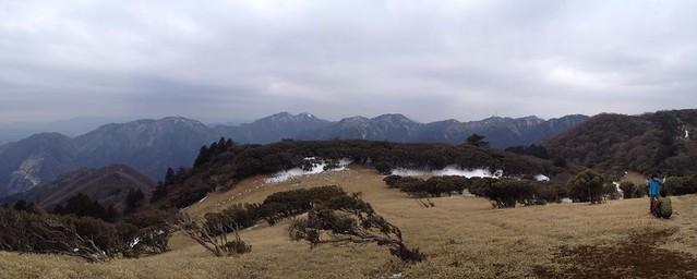 入道ヶ岳 山頂より仙ヶ岳方面