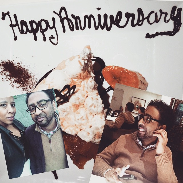 The Ethiopian and I just wanted to say thank you to everyone who wished us a Happy Anniversary! We went to #blacksalt & funnily enough were seated next to a lovely couple who were celebrating their 32nd anniversary - I asked the wife the key and she said
