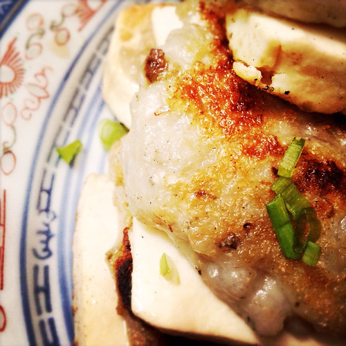 Pan Fried, Tofu, Stuffed, Fish Paste,  煎釀, 鯔魚滑, 豆腐, recipe, comfort food, easy