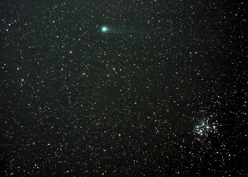 Comet Lovejoy and the Seven Sisters