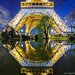 Pool Mirror on enlightened Eiffel Tower by Loïc Lagarde