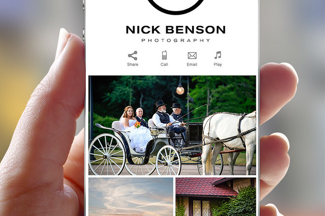 Nick Benson Photography Mobile Album App