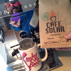 @CafeSolar in the office. Roasted yesterday! #sofresh #merchantsofgreencoffee #cafesolar #tgif