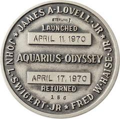Apollo 13 Robbins medal reverse