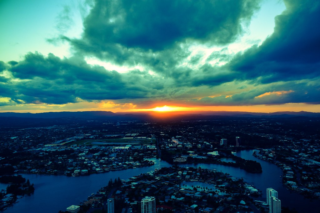 A dawn from the high in the sky at Q1 / Gold Coast / Australia