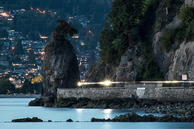 Streaking Siwash Rock Vancouver, BC