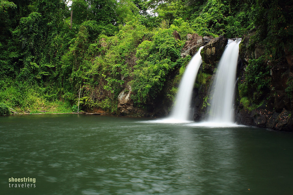 the twin Bunga Falls in Nagcarlan, Laguna