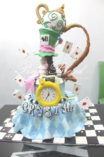 Alice in Wonderland Themed Cake from Pink Bread Cakes By Maeyo