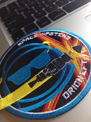 Random cool St. Patrick\'s day gift from my friend Laurie ; Space Hipsters Orion EFT-1 patch. Thanks!