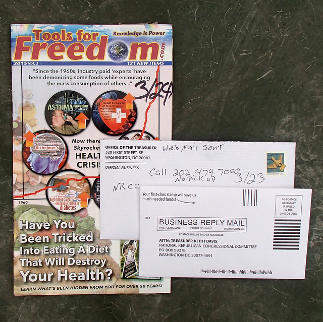 2 pieces of junk mail