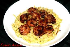Sesame Zucchini with Hoisin Shrimp