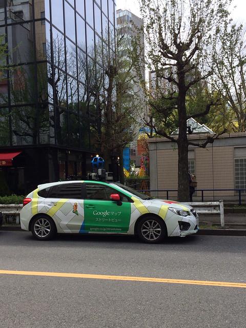 恵比寿でGoogleストリートビューの撮影車を見たよ!