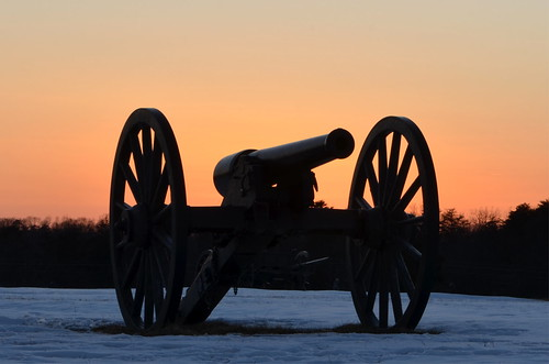 Sunset and a Cannon