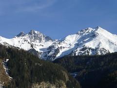 Schneegipfel gesehen von Umhausen