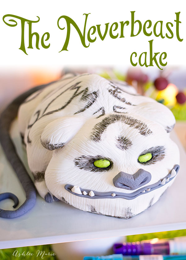 A carved, 3D Gruff cake for Disneys Tinker Bell and the Neverbeast movie. With a fun time-lapsed video of the whole process