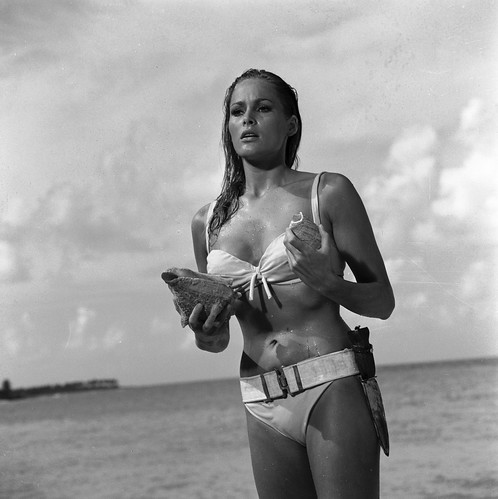 31. Emerging from the sea Honey (Ursula Andress). Copyright Notice - 1962 Danjaq, LLC and United Artists Corporation. All rights reserved.
