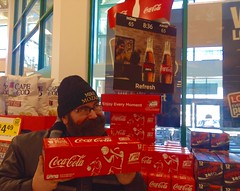 Coca Cola Final Four College Basketball Packaging and Rotating Sign Display at Stop & Shop Grocery Stores. #Coca #Cola #Final #Four #Basketball #Display