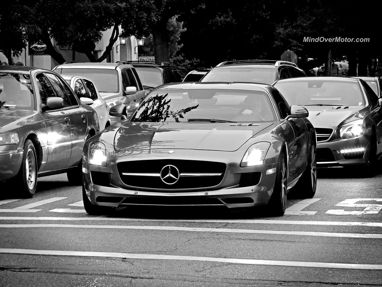 Mercedes SLS AMG Spotted in Carmel California