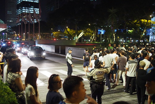 long queues to pay last respects to Lee Kuan Yew lying in state at Parliament House, Singapore
