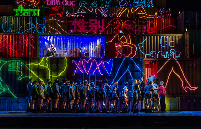 Production photo of Rise and Fall of the City of Mahagonny © ROH.Clive Barda 2015