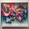 "Crystal Wagner ""Effloresce II"" #screenprint on #handcut #paper #paperartfair #artonpaper @artistcrystalwagner #crystalwagner @hashimotocontemporary #hashimoto #ny #nyc #nyartfairs"