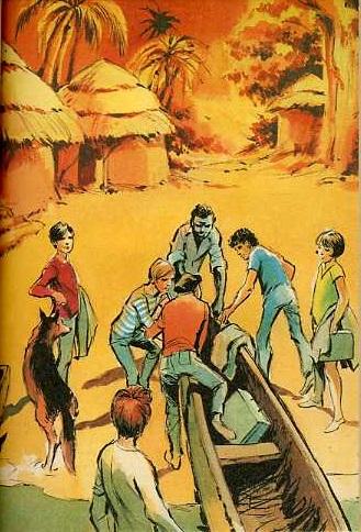 Les six compagnons et les piroguiers, by Paul Jacques BONZON