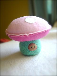 Pink/Turquoise SHROOM: tan