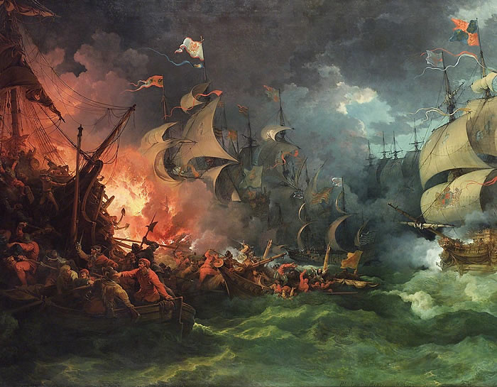 Defeat of the Spanish Armada, by Philippe-Jacques de Loutherbourg