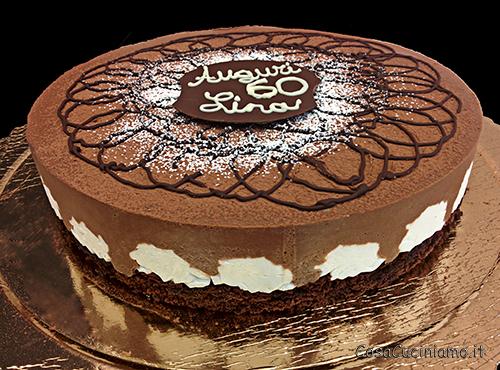 Torte - 77 - Bavarese al cioccolato e panna