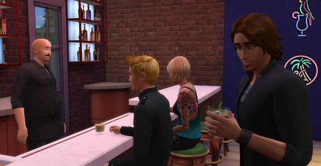 Lexi at the bar, with an admirer?