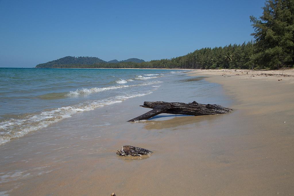 Deserted beach Koh Phra Thong