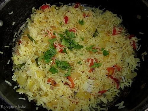 Opekaná ryža s paradajkou