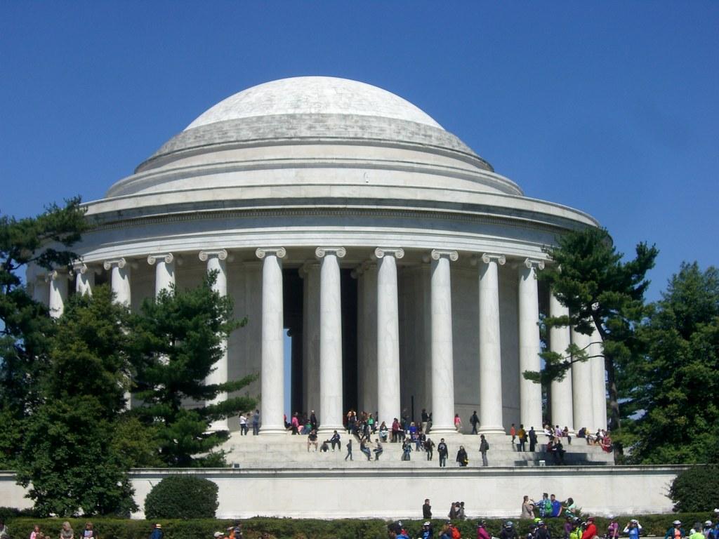 Jefferson Monument blue skies