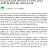 ONEMI declara ALERTA TEMPRANA PREVENTIVA para el BioBio por sistema frontal con fuertes vientos y precipitaciones.
