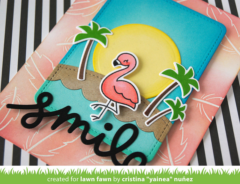 Smile flamingo - detail