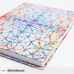 [NEW] designs by Claudia at @claudiaowenblog on Brindie today! Two new journals (including this stunning 'glimmer' design) and a snazzy pencil case in 'crystalline' design. There's only 2 of everything available, so go grab yours now! Link in bio. Xxx Tha