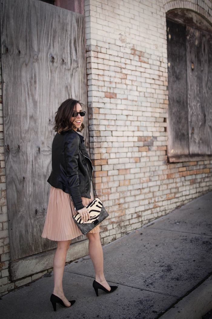 a viza style. andrea viza. fashion blogger. dc blogger. pleated jcrew skirt. faux leather jacket. rebecca minkoff heels. casual style. dc style. 17