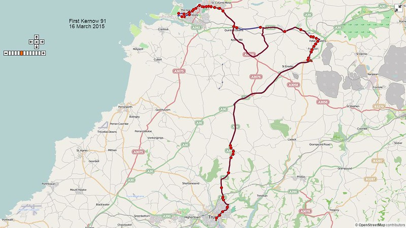 First Kernow Route-91 Map-16March2015