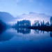 Misty Dawn at Lake Almsee by martinjankoehler