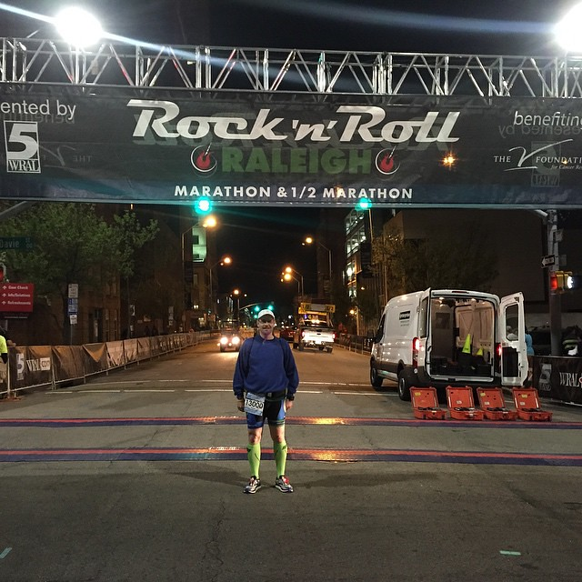 Made it to the start line. #runhappy #rnrral