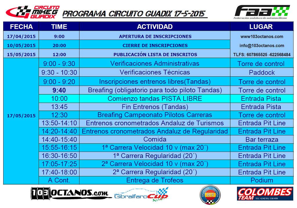 Circuito Guadix : Cav tandas circuito guadix de mayo