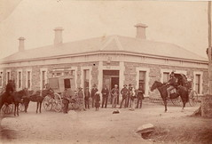 Mail Coach outside the Bush Inn, Willunga, ca 1908.