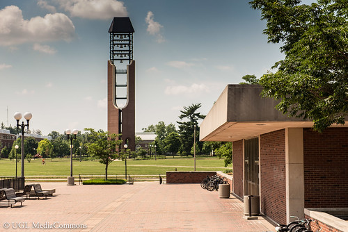 Bell Tower from the Plaza. Photo courtesy of the UGL Media Commons