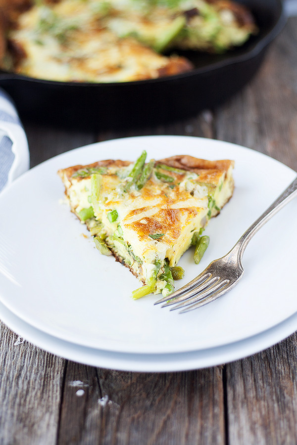 asparagus frittata with aged havarti