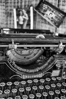 Machine à écrire Underwood standart type 3 sd