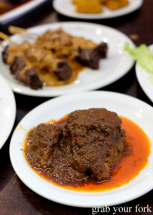 Beef rendang at Indo Rasa, Kingsford