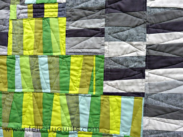 Cloudy With a Chance of Lime_quilting